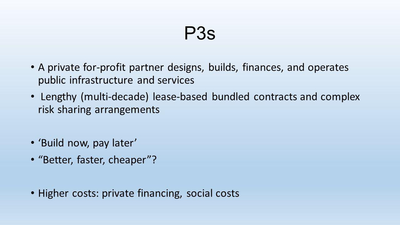P3 Enabling Fields BCOntario Enabling legislation and capital planning frameworks Capital Asset Management Framework (CAMF) (2002) Infrastructure Planning, Financing and Procurement Framework (IPFP) (2004) The Health Sector Partnerships Agreement Act (Bill 94) (2003) Alternative Financing and Procurement (AFP) (2004) Institutional support Partnerships BC (2002)Infrastructure Ontario (2005)