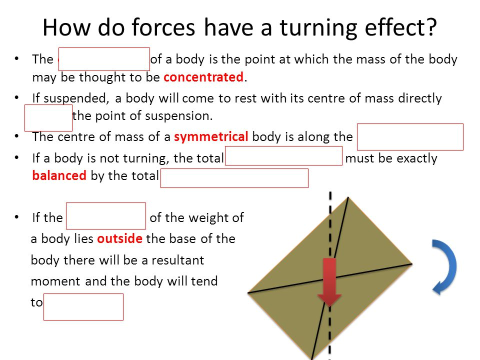 How do forces have a turning effect.