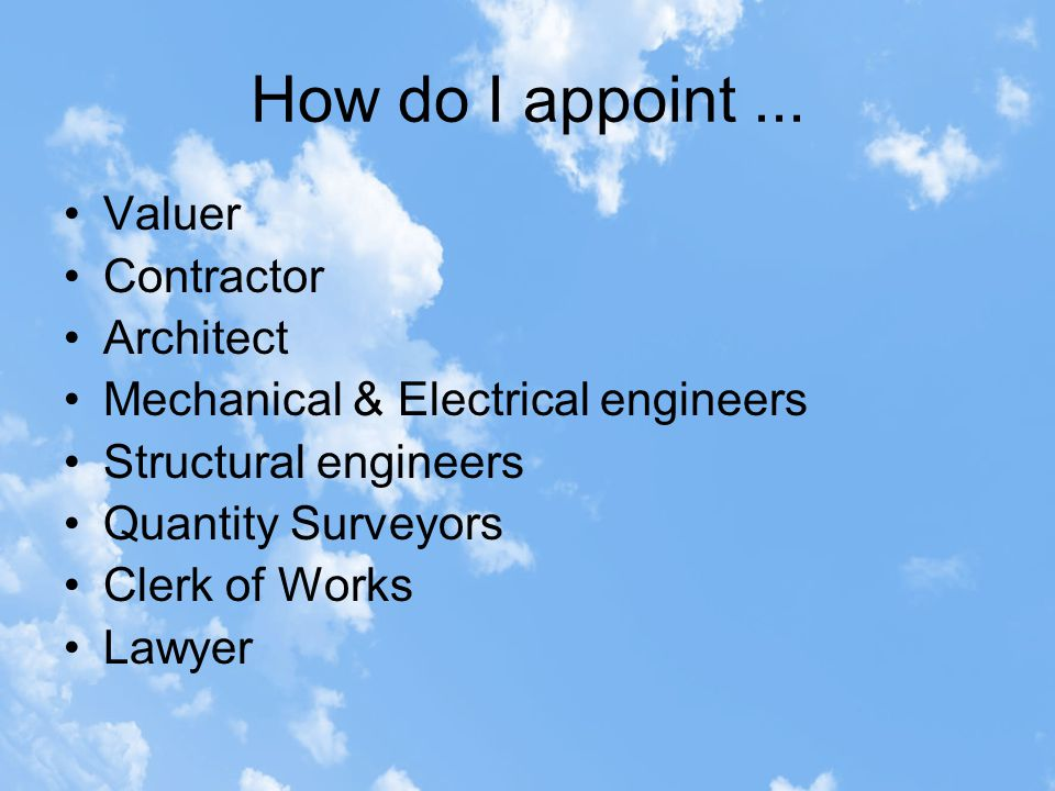 How do I appoint...