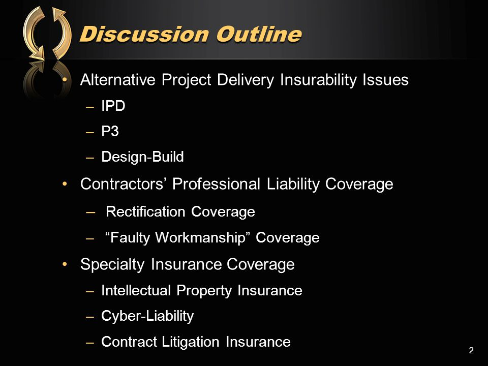 Intellectual Property Coverage Some coverage in some professional liability policies but,Some coverage in some professional liability policies but, –Many policies specifically exclude –Few policies specifically include –Policies that include have large retentions so risk is effectively uninsured Stand-alone coverageStand-alone coverage –Abatement –Defense –Multi-peril 23