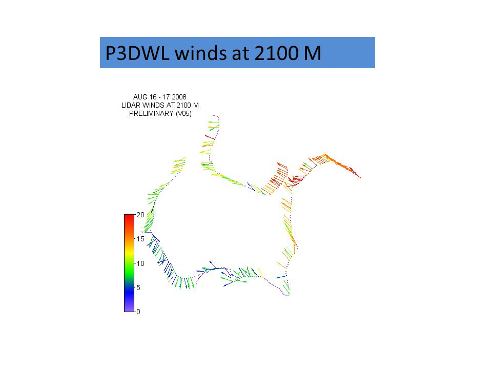 P3DWL winds at 2100 M