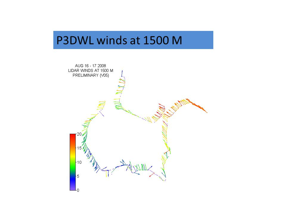 P3DWL winds at 1500 M