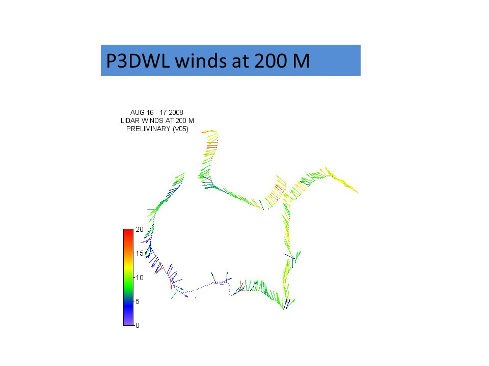 P3DWL winds at 200 M