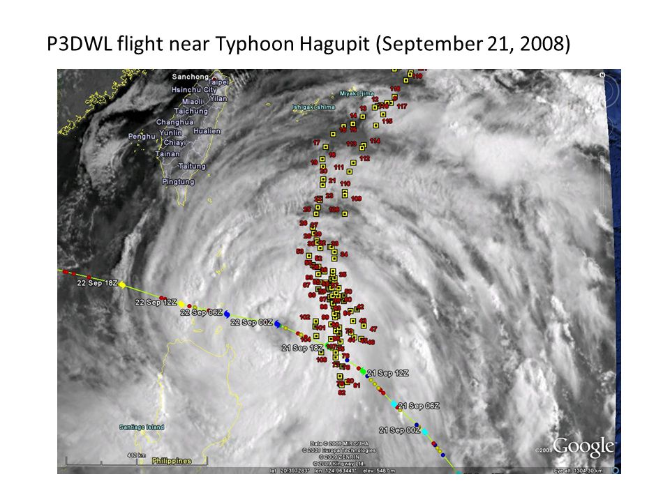 P3DWL flight near Typhoon Hagupit (September 21, 2008)