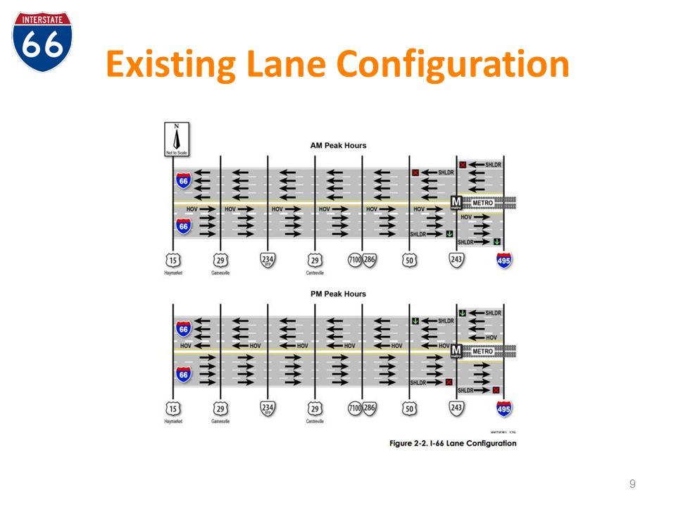 Existing Lane Configuration 9