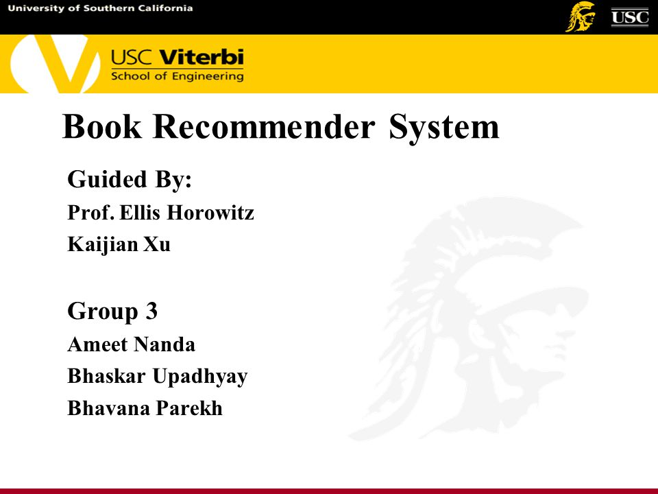 Book Recommender System Guided By: Prof.