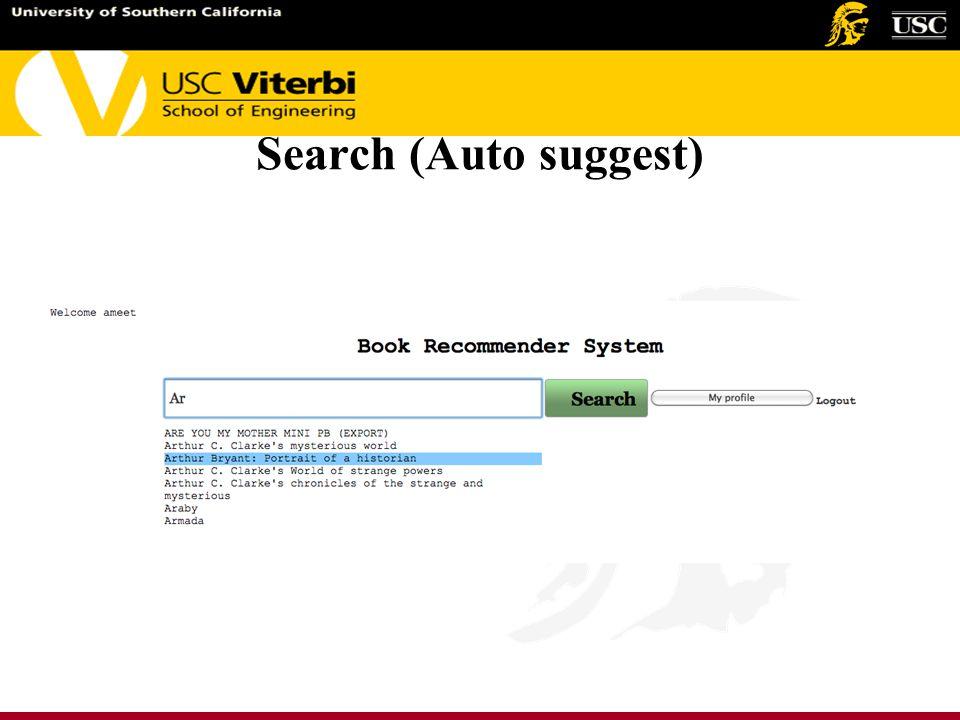 Search (Auto suggest)