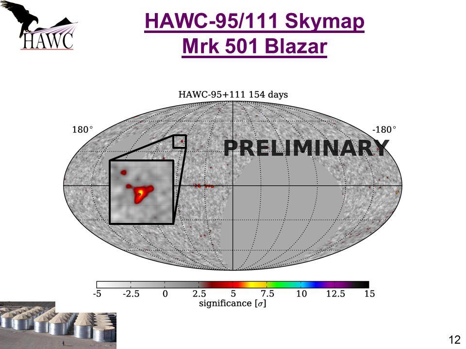 12 HAWC-95/111 Skymap Mrk 501 Blazar J. Patrick Harding, Summer Seminar Series