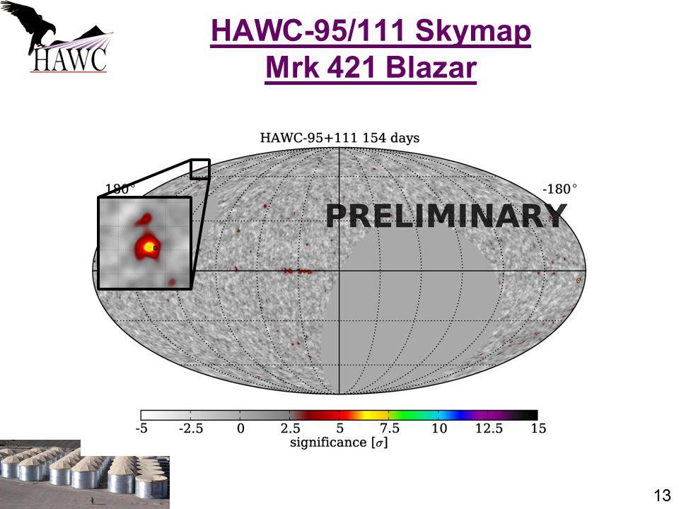 13 HAWC-95/111 Skymap Mrk 421 Blazar J. Patrick Harding, Summer Seminar Series
