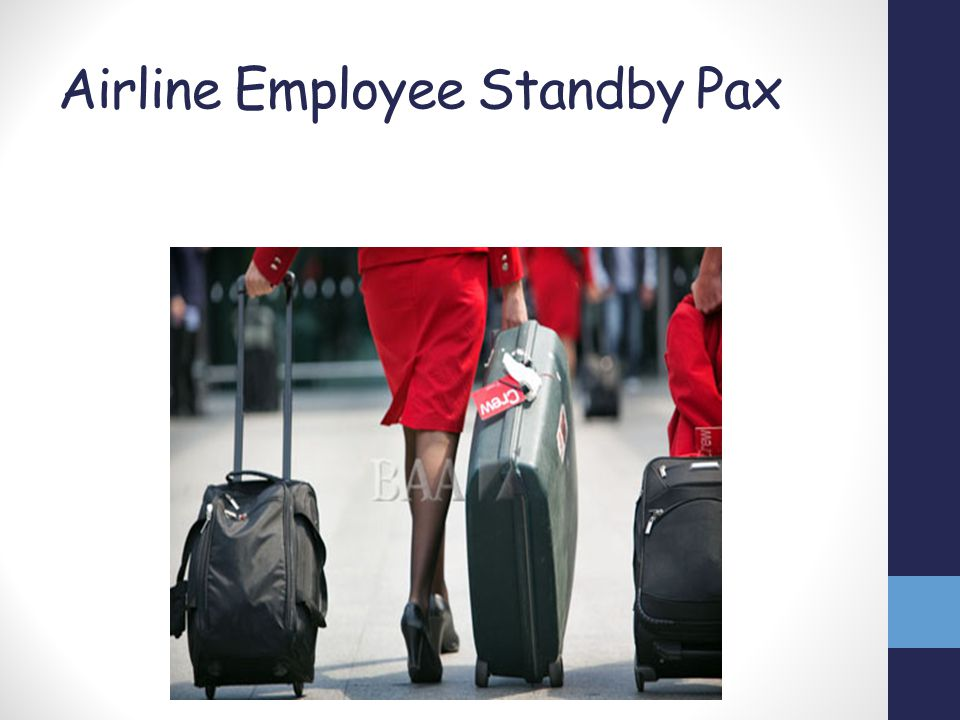 Airline Employee Standby Pax
