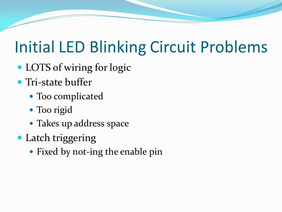 Final LED Blinking Circuit MC6802 microprocessor OKI 28C16A ROM LS373 Latch LS138 Decoder