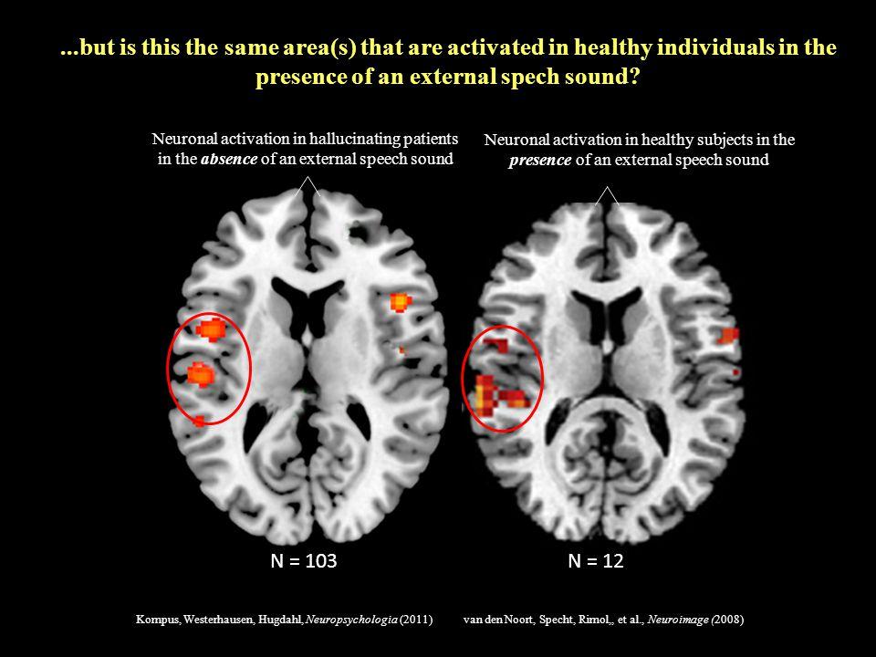 van den Noort, Specht, Rimol,, et al., Neuroimage (2008)Kompus, Westerhausen, Hugdahl, Neuropsychologia (2011) Neuronal activation in hallucinating pa