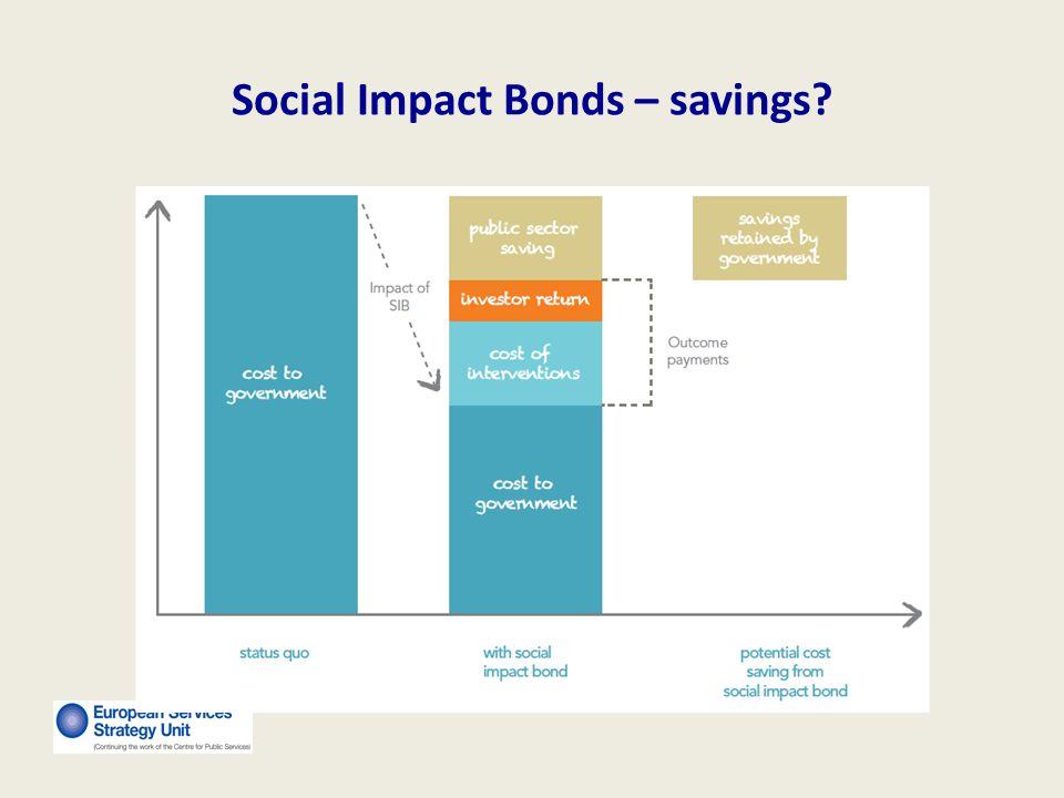 Social Impact Bonds – savings