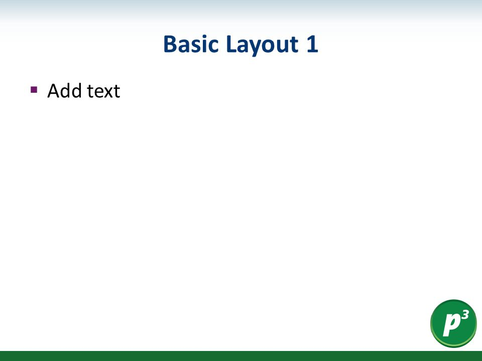 Basic Layout 1  Add text