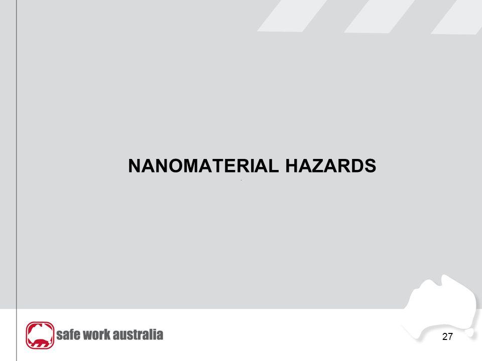NANOMATERIAL HAZARDS 27