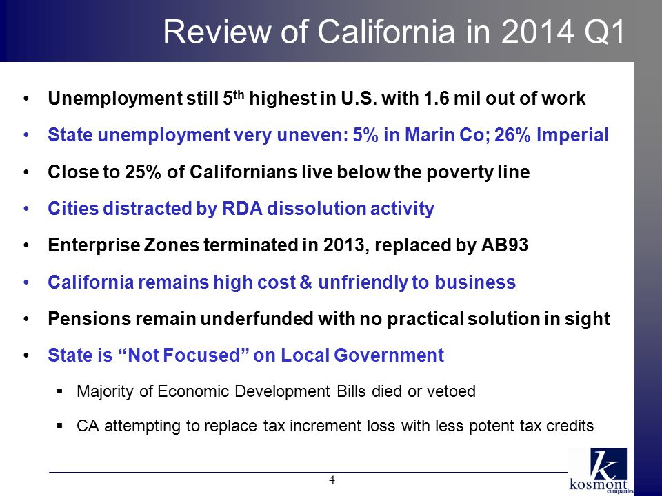 Implementing an Econ Dev Strategy is Key Economic Development Projects w/o RDAs are more challenging but achievable, cities need well conceived strategy Steps for Economic Development Strategy Implementation:  Review Basic Tool Kit: Real Estate, Zoning, Districts, Revenue/Tax, and P3  Determine which tools City is willing to use  Create Economic Development Inventory of potential projects Pick potential projects from ED Inventory – determine feasibility  Review initial opportunities Post RDA Properties Potential to create districts and/or use zoning & DORs P3 Project  ED & Public Finance complexities demand a highly skilled team – review steps above and work with recognized professionals 45
