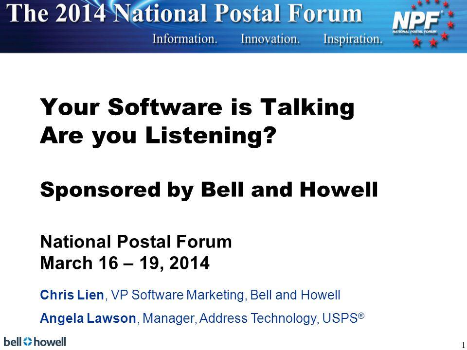 Your Software is Talking Are you Listening.