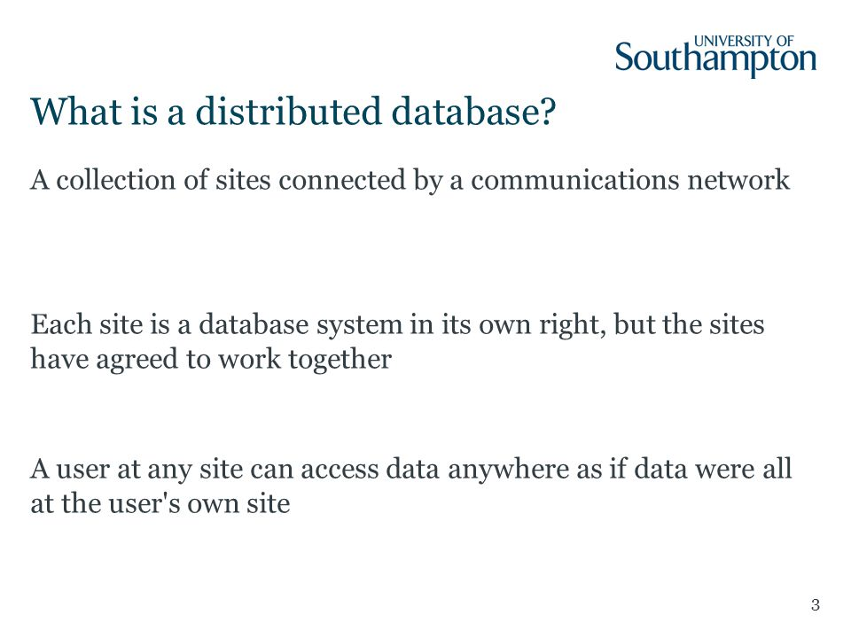 What is a distributed database.