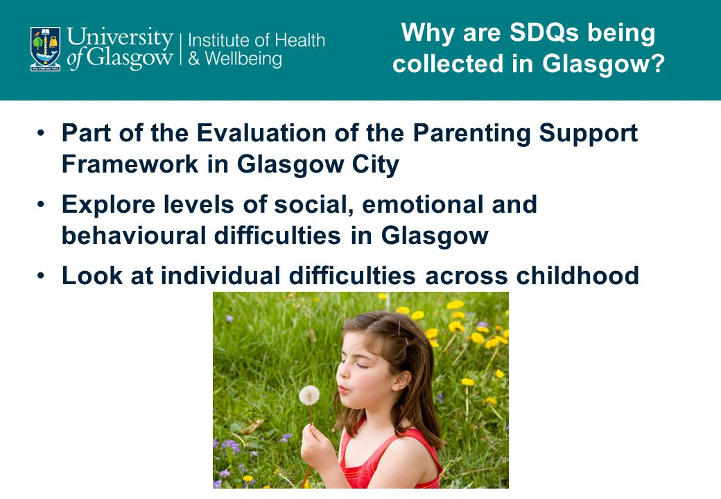 Why are SDQs being collected in Glasgow.
