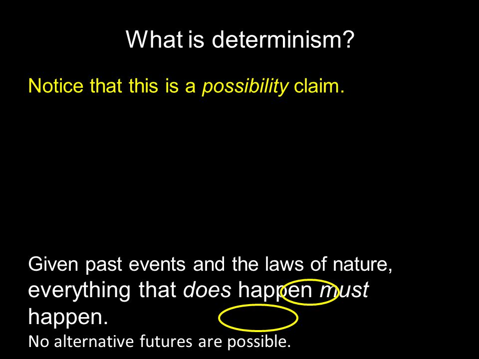 What is determinism.