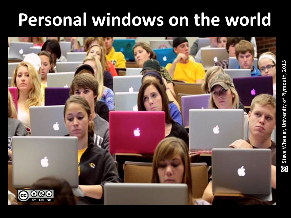 Personal windows on the world Steve Wheeler, University of Plymouth, 2015