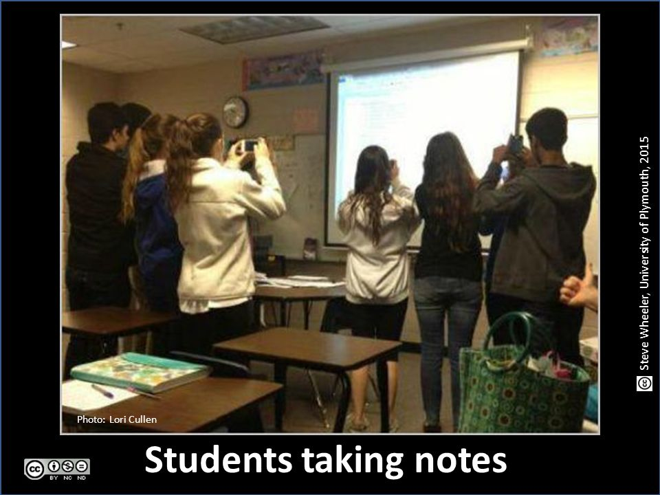 Students taking notes Photo: Lori Cullen Steve Wheeler, University of Plymouth, 2015