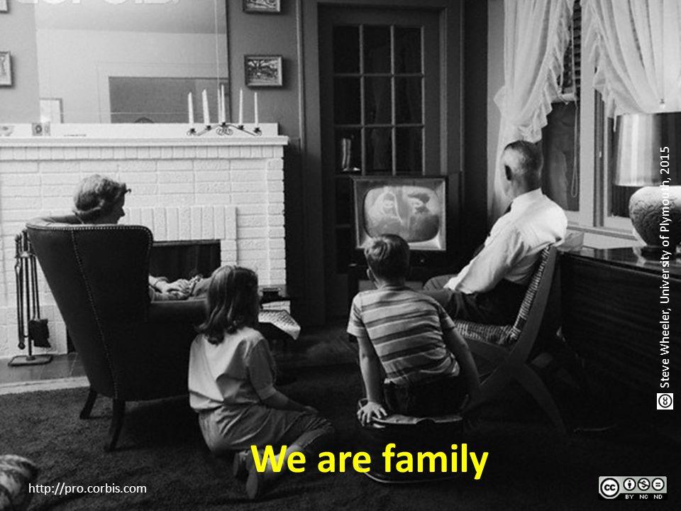 We are family http://pro.corbis.com Steve Wheeler, University of Plymouth, 2015