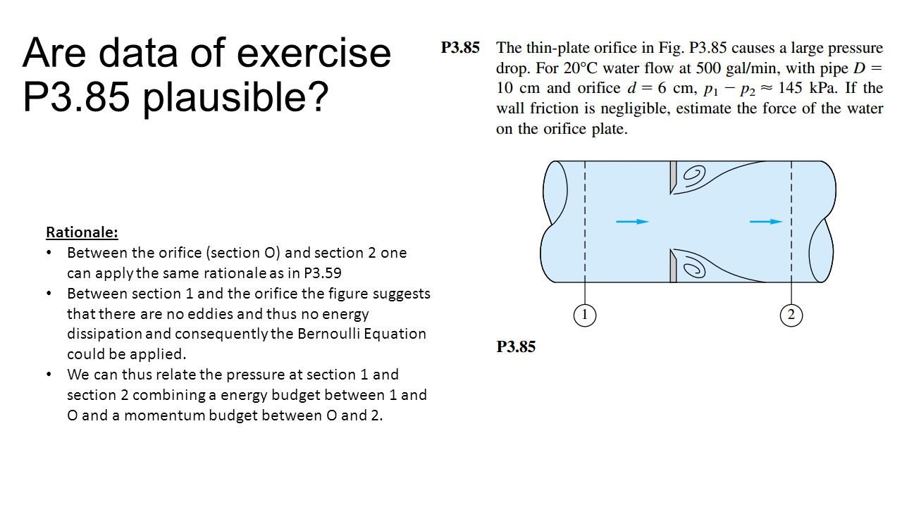 Are data of exercise P3.85 plausible.