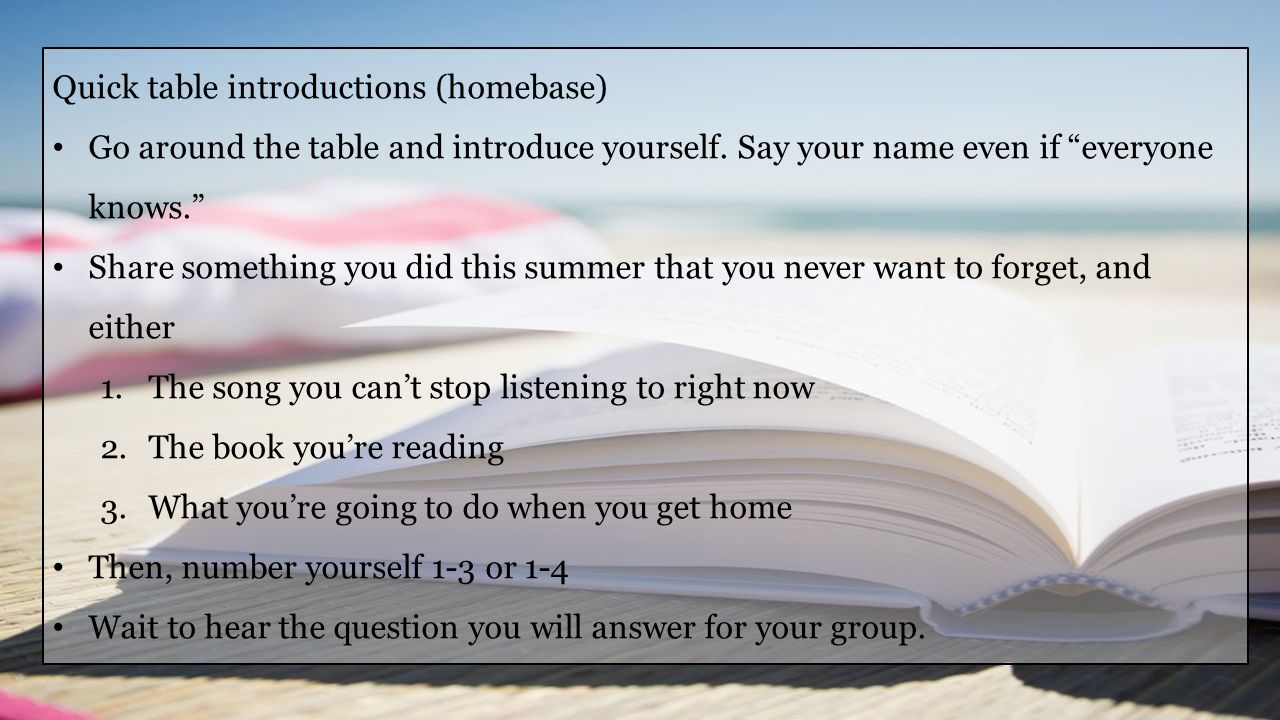 September 11, 2014 1.Turn in signed syllabus (if you haven't yet) 2.Discuss Inner- relationships and Conclusion of Crash.