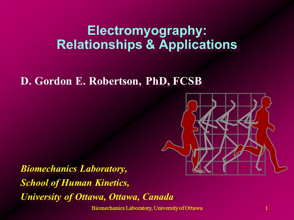 Electromyography: Relationships & Applications D. Gordon E.