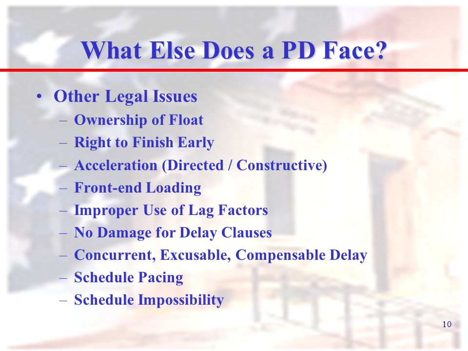 10 What Else Does a PD Face.