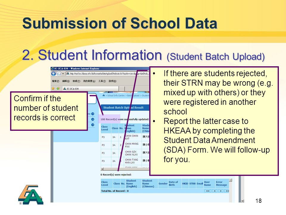 18 Submission of School Data 2.