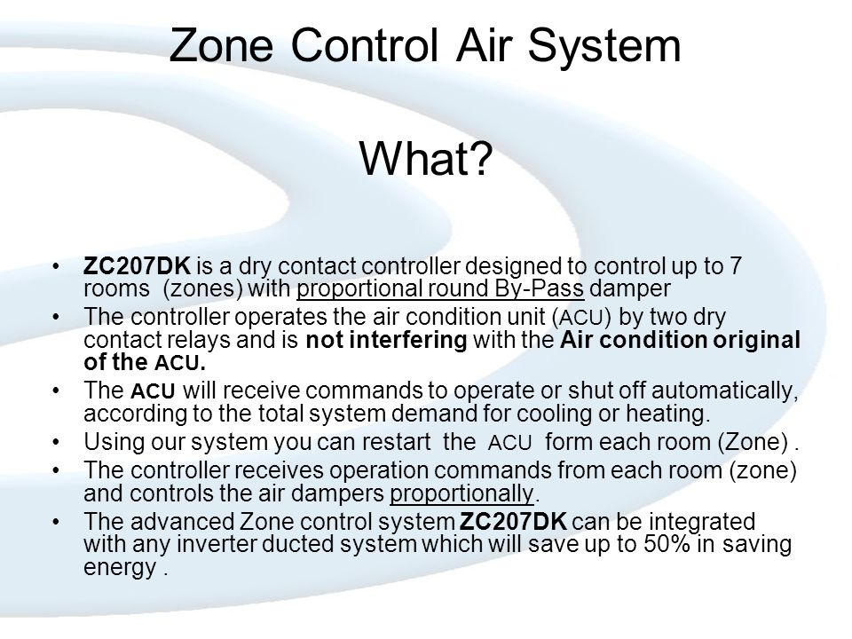 Zone Control Air System What.