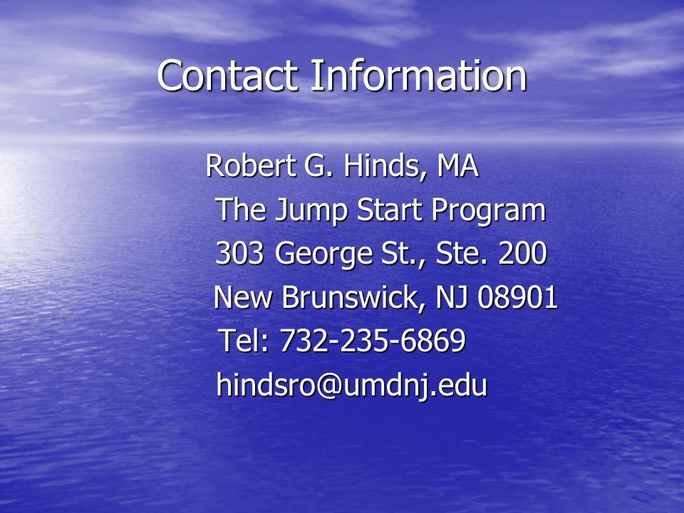 Contact Information Robert G.