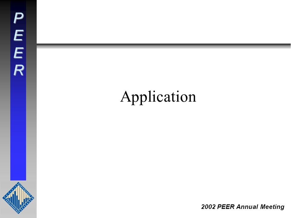 PEER 2002 PEER Annual Meeting Application