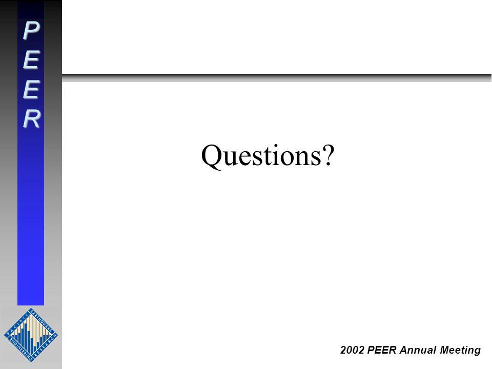 PEER 2002 PEER Annual Meeting Questions?