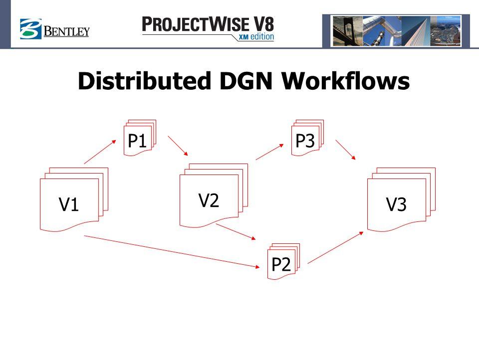 Distributed DGN Workflows V1 P2 P1 V2 V3 P3