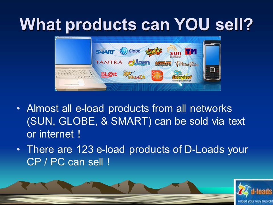 What products can YOU sell.