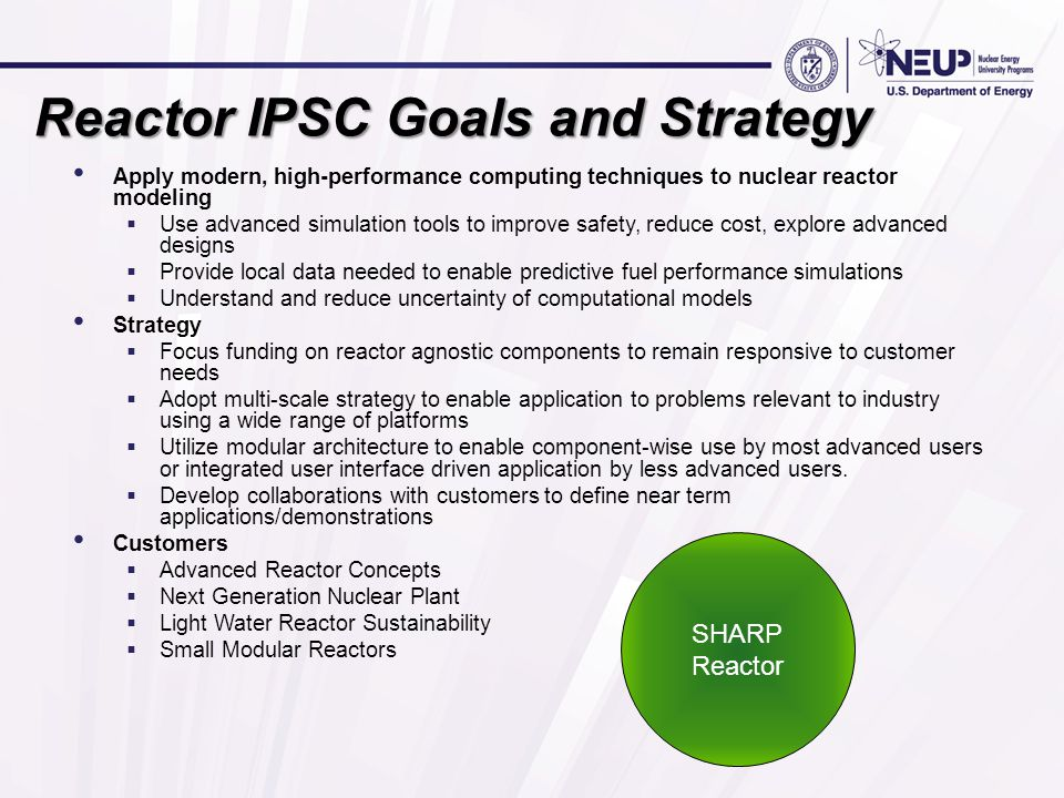 Validation Verification & UQ Thermo Fluids Neutronics Structural Mechanics Framework SHARP Reactor