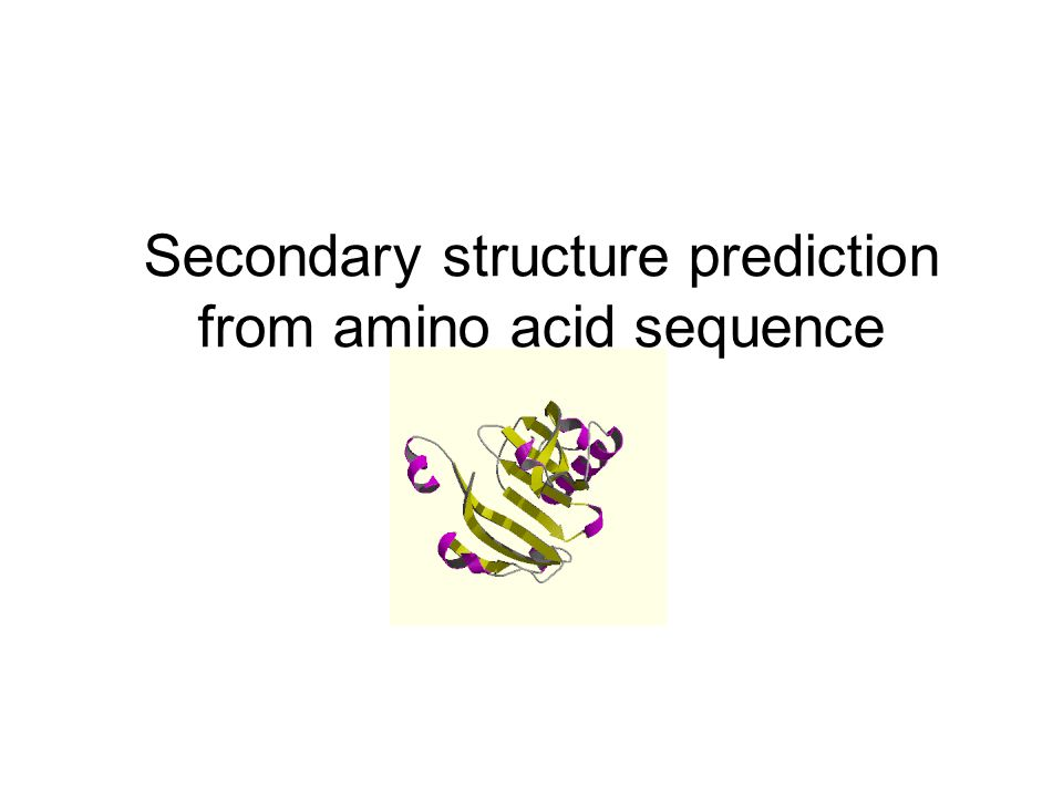 Hidden Markov Models-HMMSTR amino acid secondary structure element structural context Markov state Recurrent local features of protein sequences Accuracy of 74% Bystroff et al., 2000