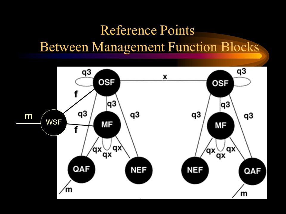 Reference Points Between Management Function Blocks WSF f f m