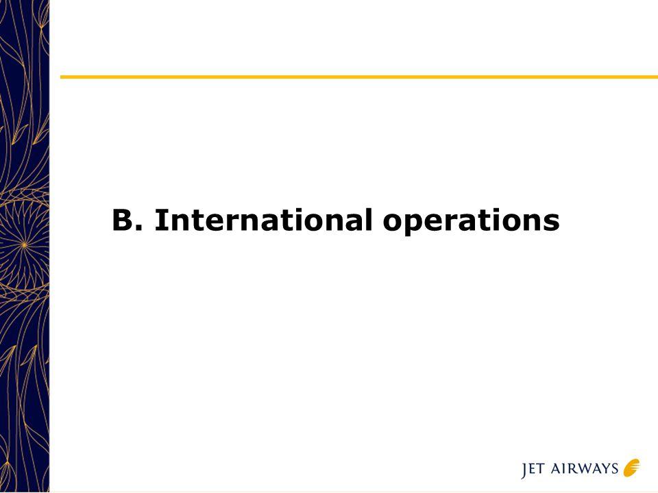 14 B. International operations