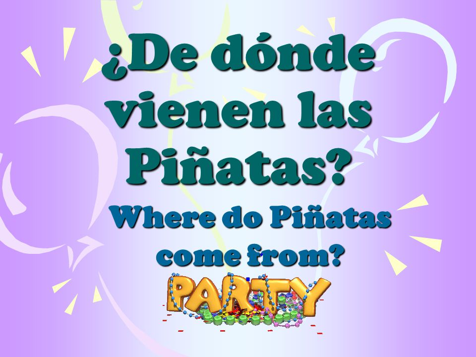 ¿De dónde vienen las Piñatas Where do Piñatas come from