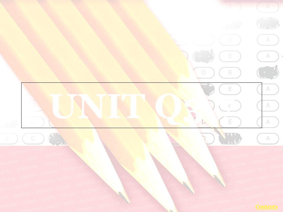 UNIT Q3.7 Contents