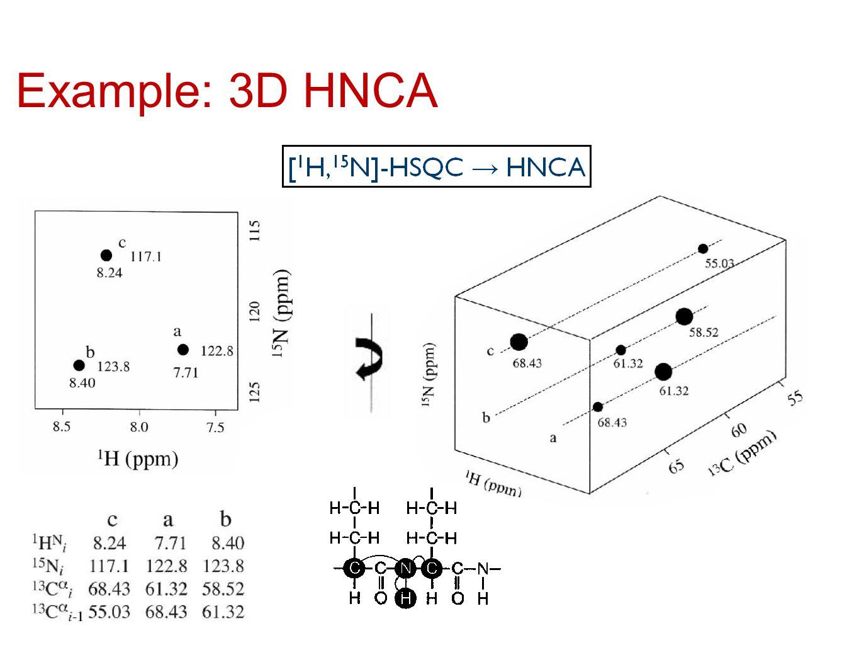 Example: 3D HNCA