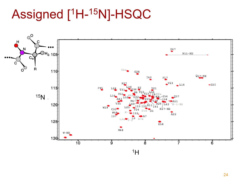 24 Assigned [ 1 H- 15 N]-HSQC 15 N 1H1H