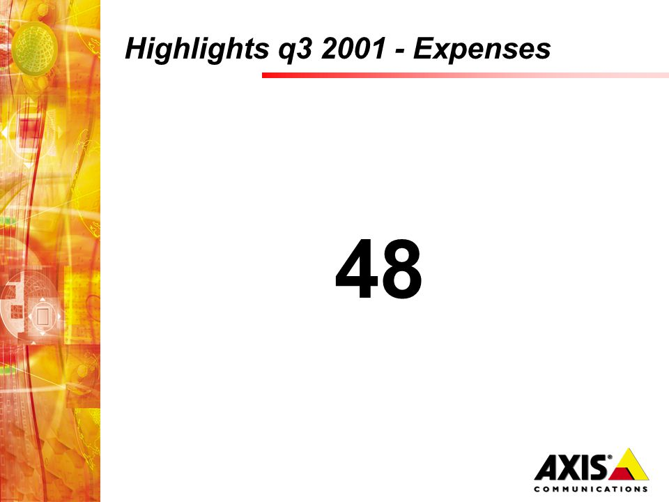 Highlights q3 2001 - Expenses 48