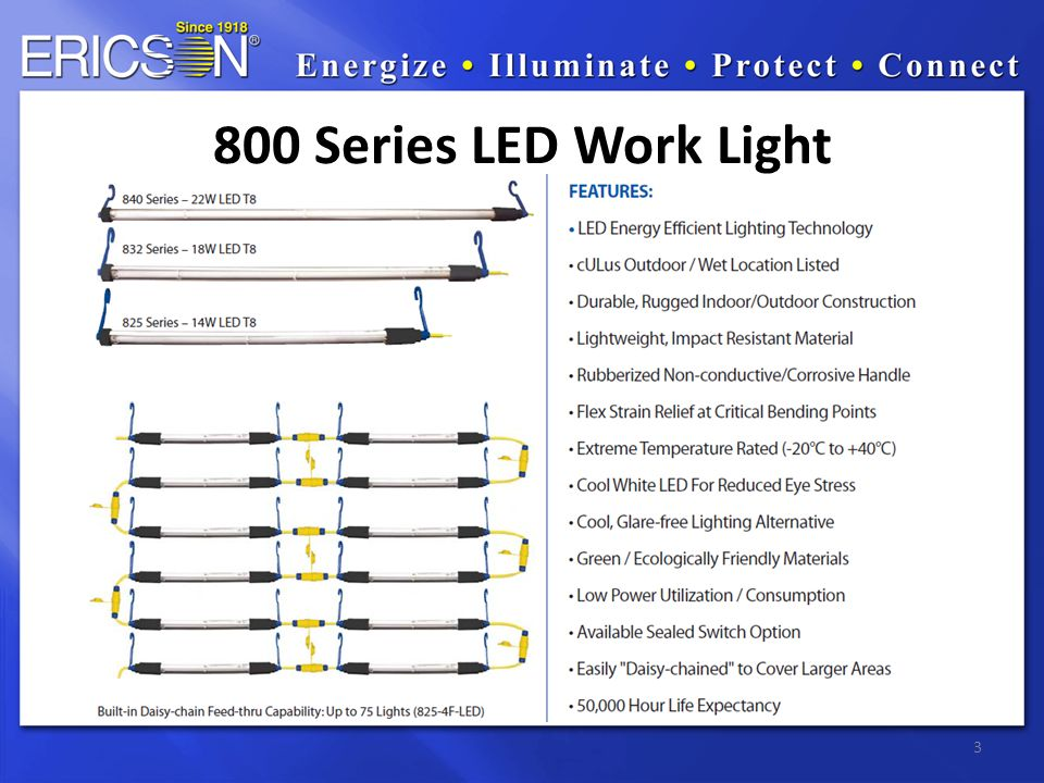 3 800 Series LED Work Light