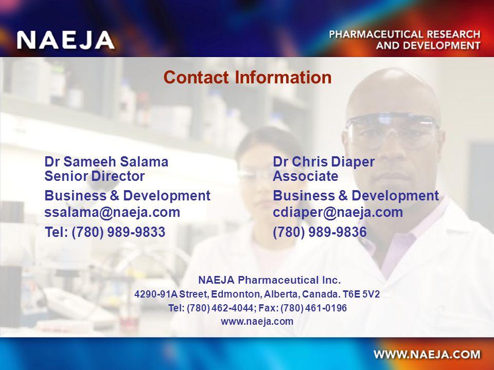 Contact Information Dr Sameeh SalamaDr Chris Diaper Senior DirectorAssociate Business & Development Business & Development ssalama@naeja.comcdiaper@na