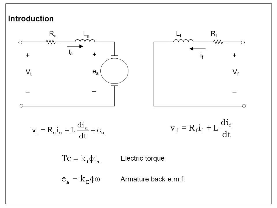 Phase-controlled rectifier (continuous current) Model simplified to linear gain if bandwidth (e.g.